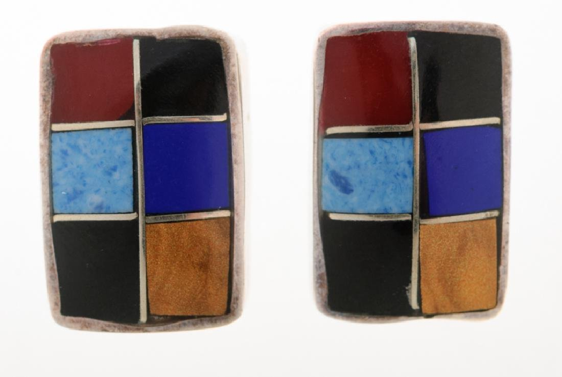 Sterling & Stone Mexican Colorblock Earrings Pair