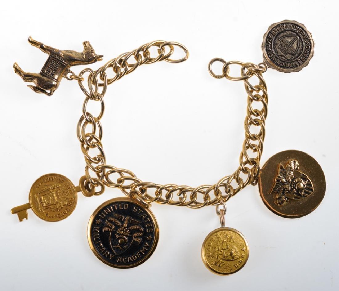 Barnes Estate Military Motif Charm Bracelet