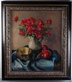 Maria Boveri Cantarella Still Life Oil on Canvas