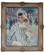 CH Vignon Parisian Lady Oil on Canvas