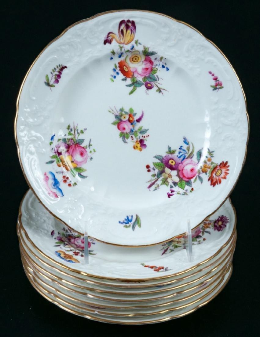 Limoges Coalport A.D. 1750 Plates, 8 p.