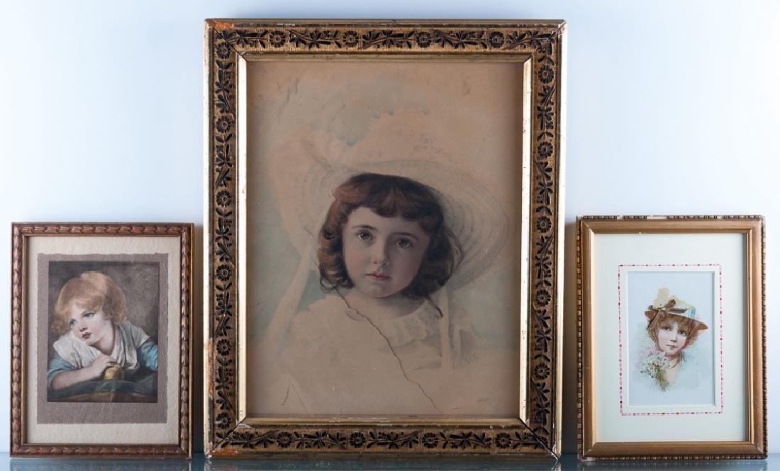 Victorian Style Portrait Print Trio