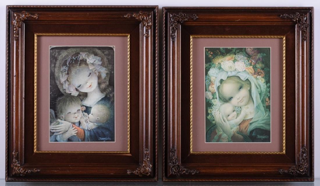 Juan Ferrandiz Virgin Mary Prints Pair