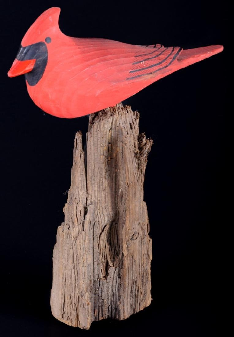 Chincoteague Jester Family Carved Cardinal