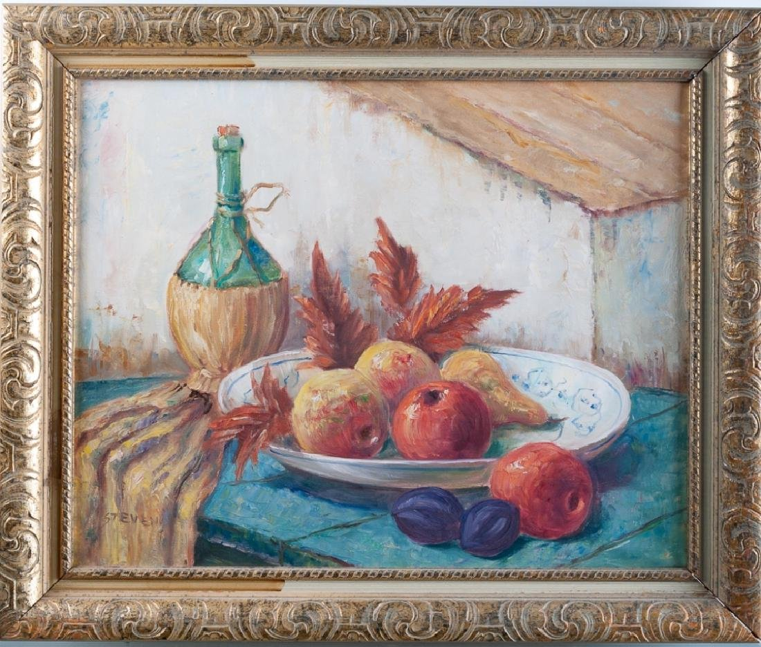 Stevens Still Life with Wine Oil on Canvas