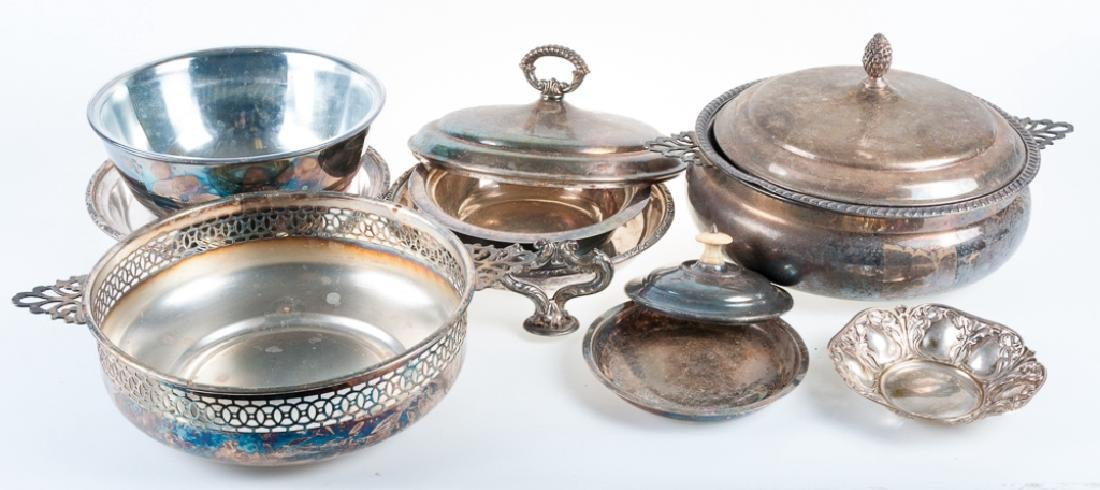 Silver Plate Serving Pieces Group