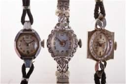 Womens Vintage Wrist Watch Trio