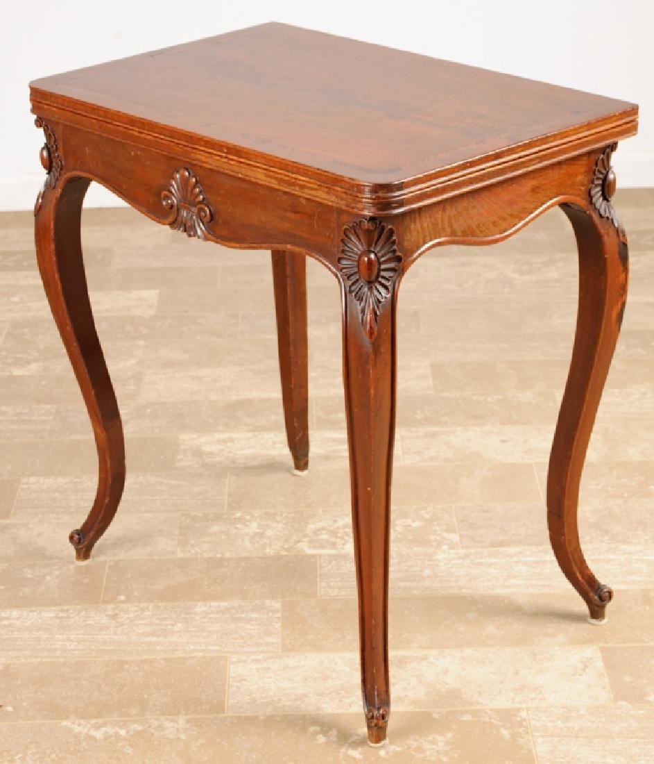 Mahogany Folding Top Game Table, 19th Century