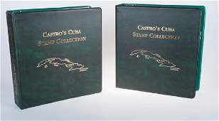 Castro's Cuba Stamp Collection Albums, Two (2)