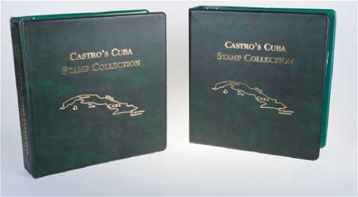 Castros Cuba Stamp Collection Albums Two 2