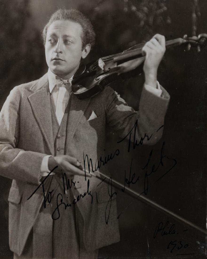 Jascha Heifetz Autographed Photo 1930