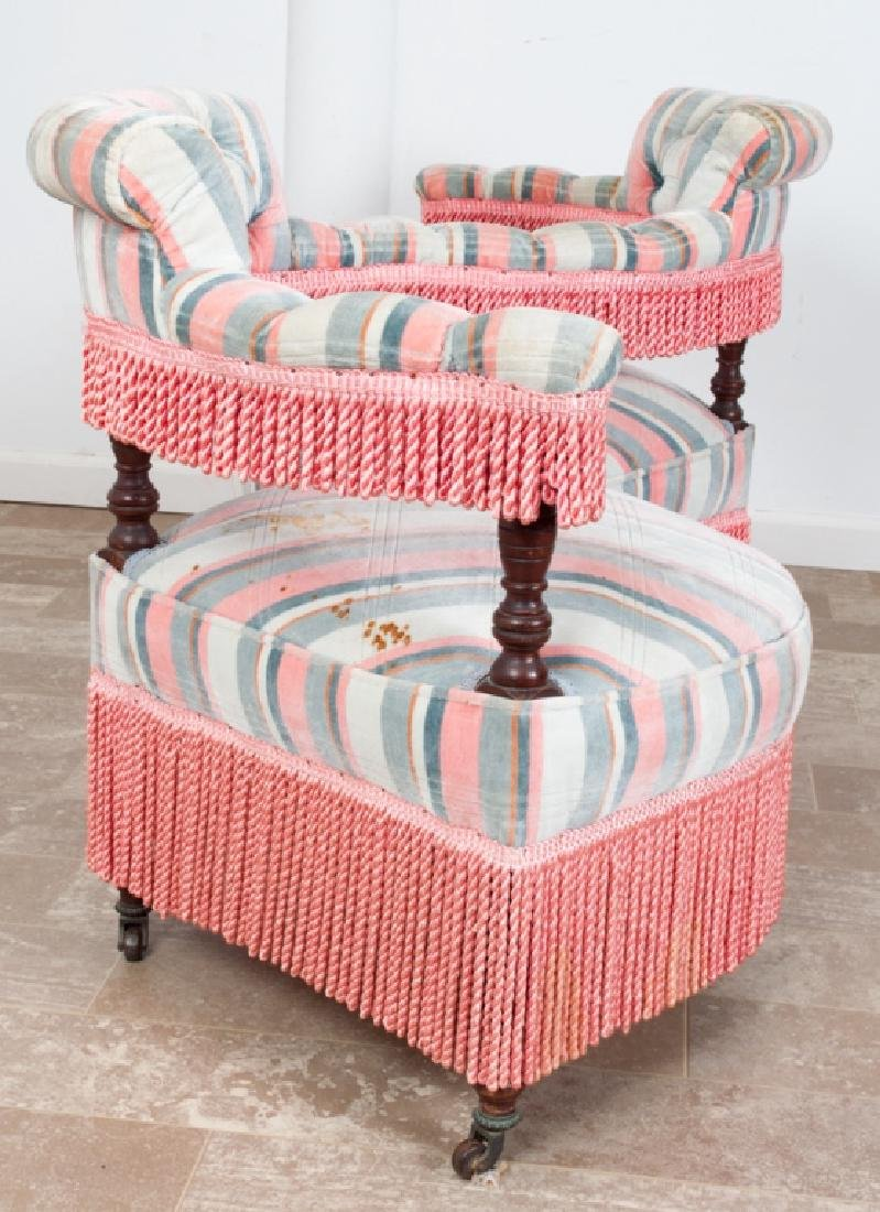 Victorian Upholstered Tete-a-Tete - 5