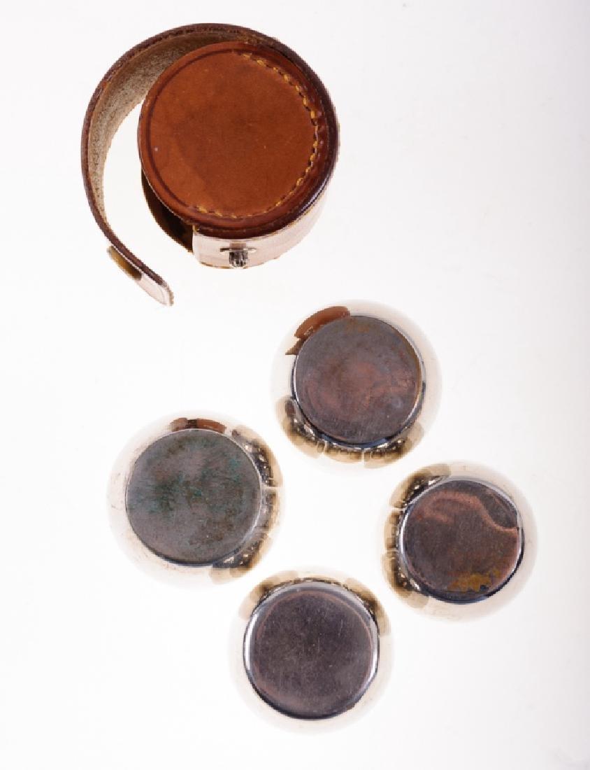 German Travel Shot Glass Set & WMF Sugar Spoon - 6