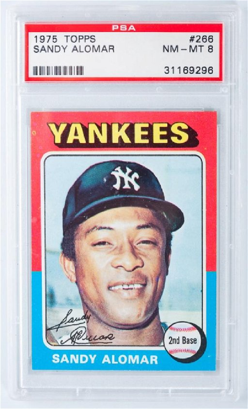 Sandy Alomar 1975 Topps Baseball Card Graded Feb 17