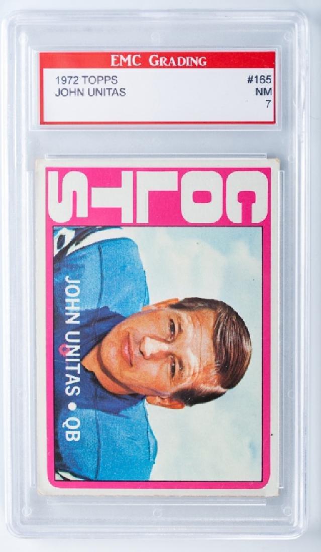 John Unitas 1972 Topps Football Card (Graded)