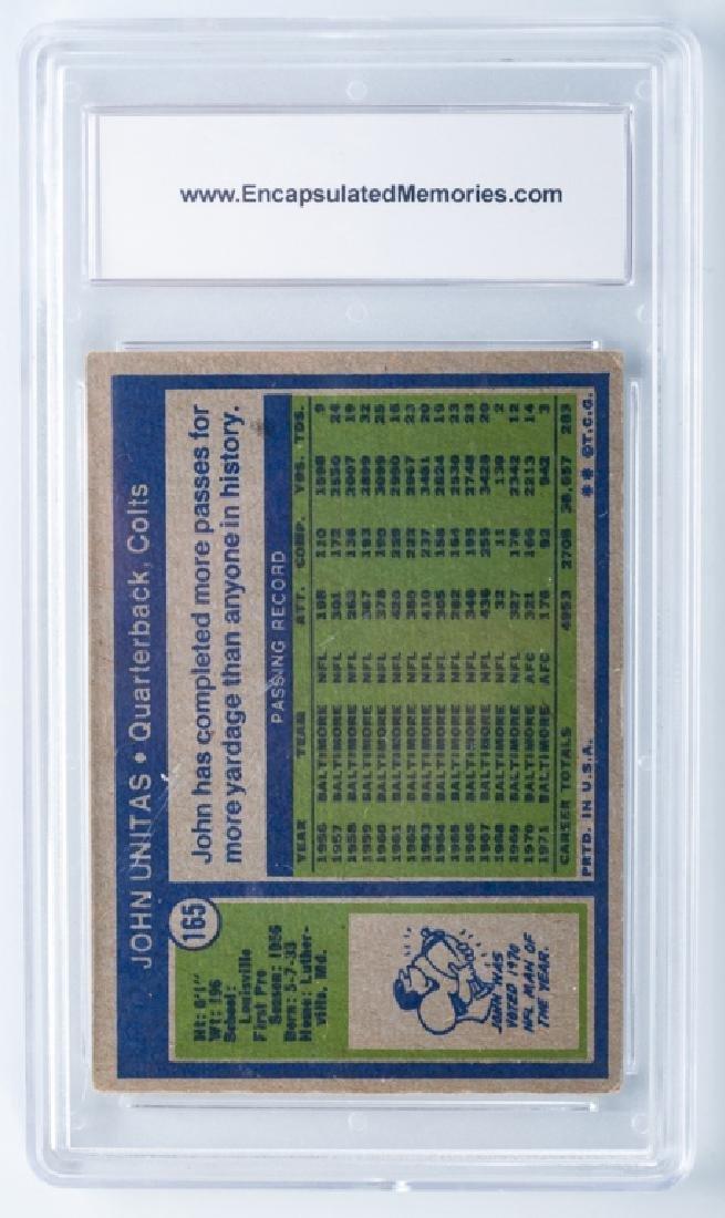 John Unitas 1972 Topps Football Card (Graded) - 2