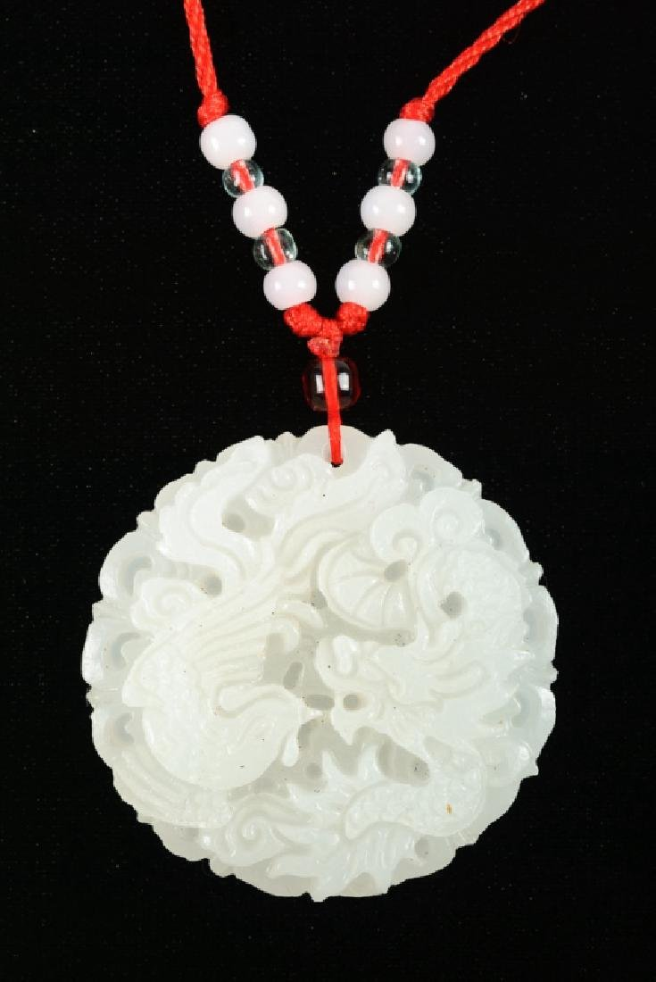 White Stone Hand Carved Pendant