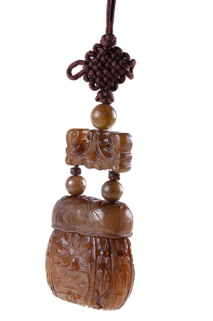 Japanese  Inro & Cord Necklace