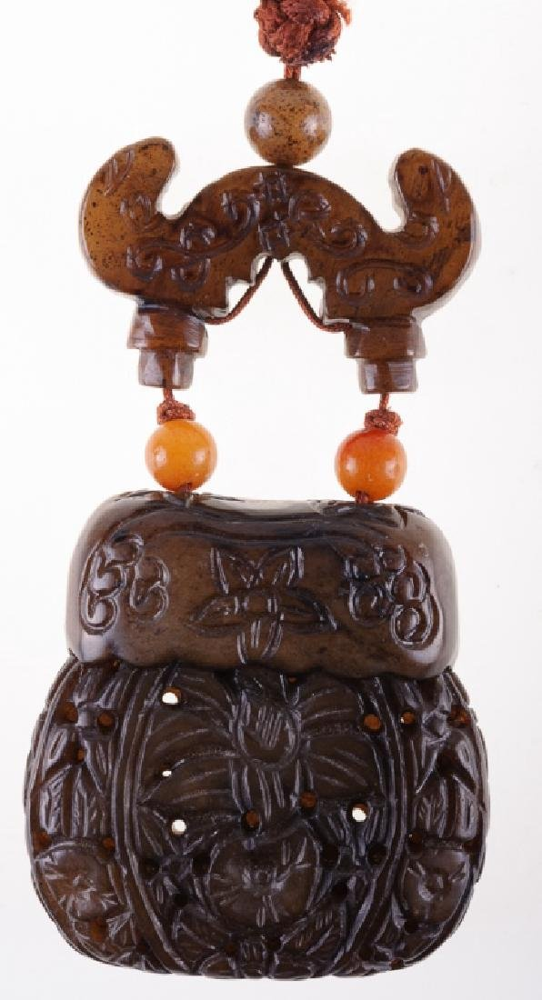 Japanese  Inro & Cord Necklace - 3