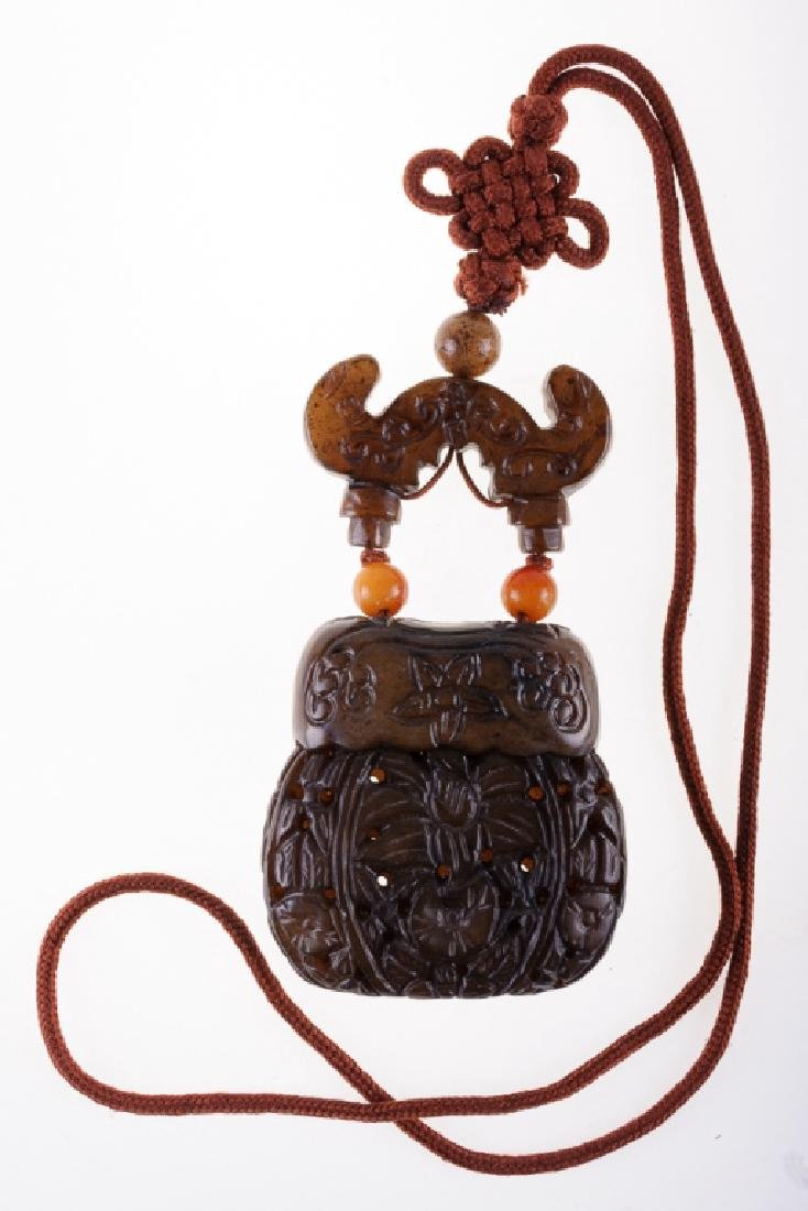 Japanese  Inro & Cord Necklace - 4