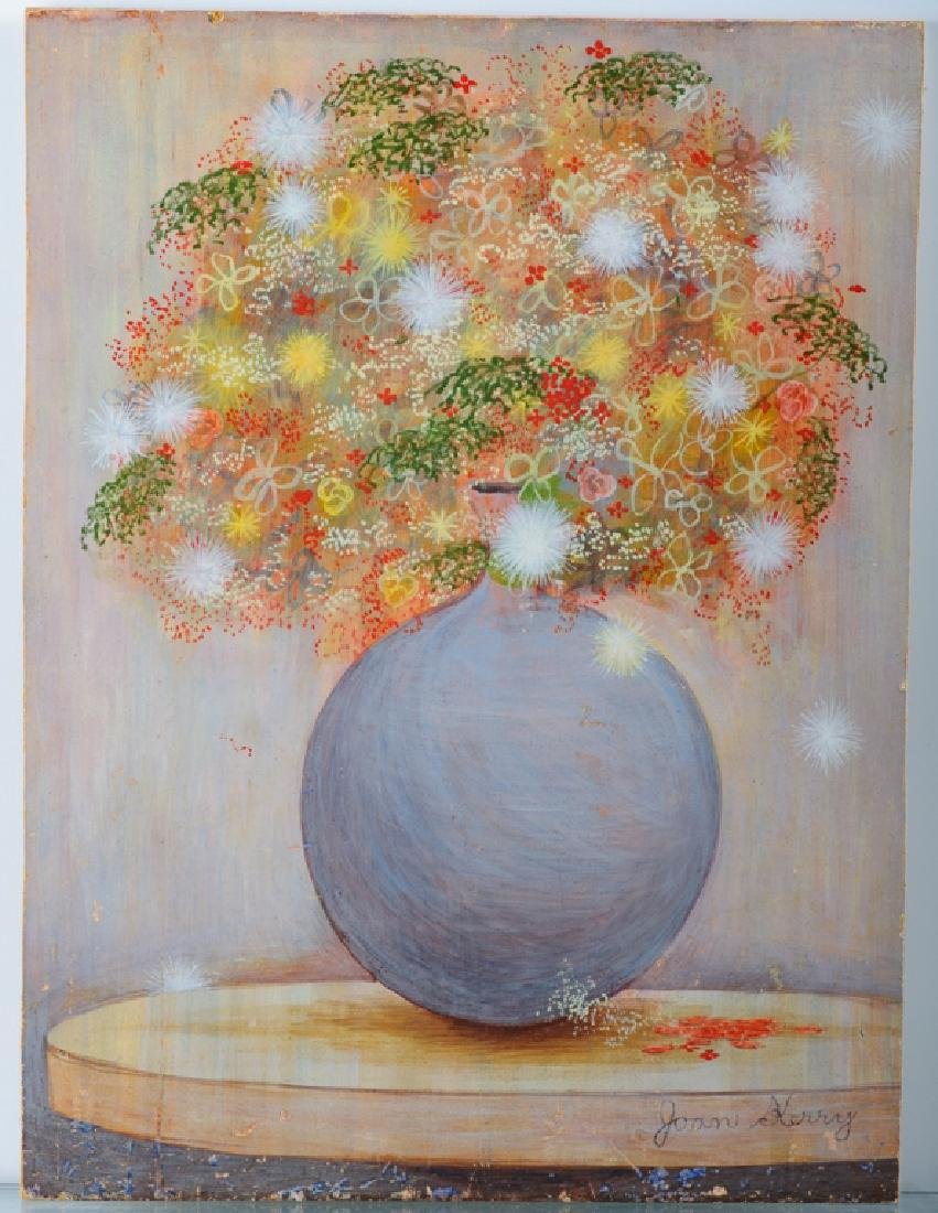 Joan Kerry Egg Tempera Still Life On Board - 2
