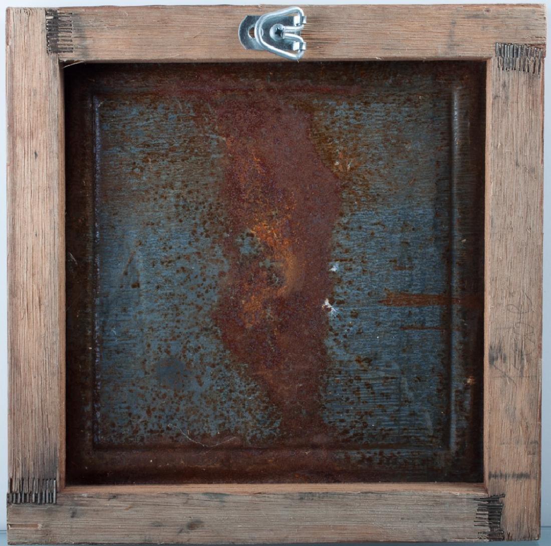 Outsider Art Painting on Tin Panel - 4