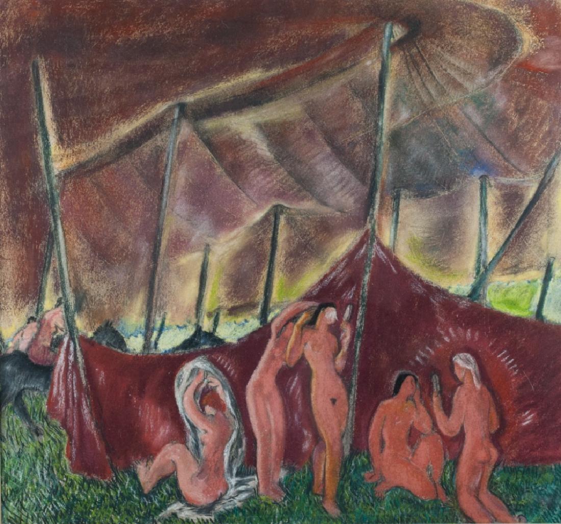 "Doris Rosenthal ""Circus Tent II"" Pastel on Paper"