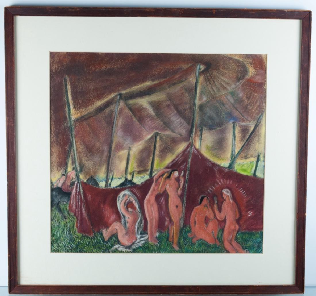 "Doris Rosenthal ""Circus Tent II"" Pastel on Paper - 2"