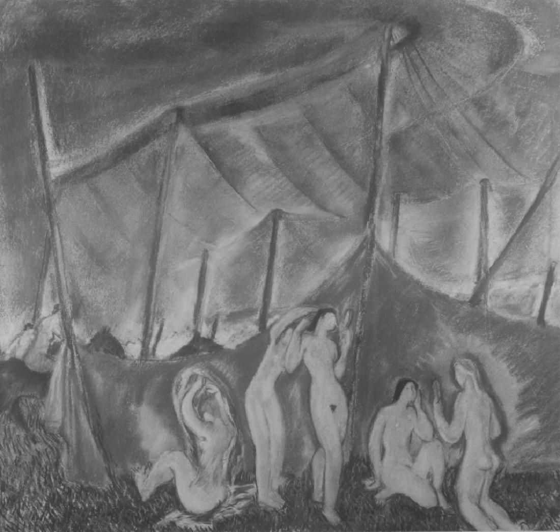 "Doris Rosenthal ""Circus Tent II"" Pastel on Paper - 3"