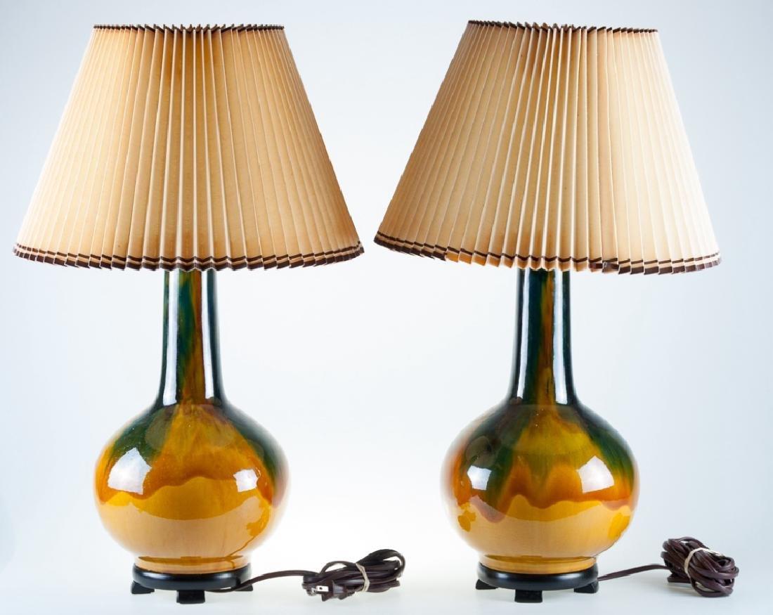 Drip Glaze Lamps Pair - 2