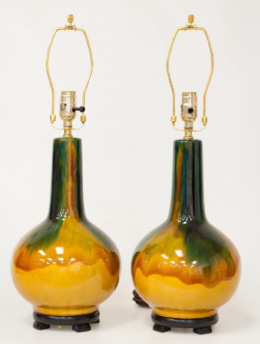Drip Glaze Lamps Pair - 8