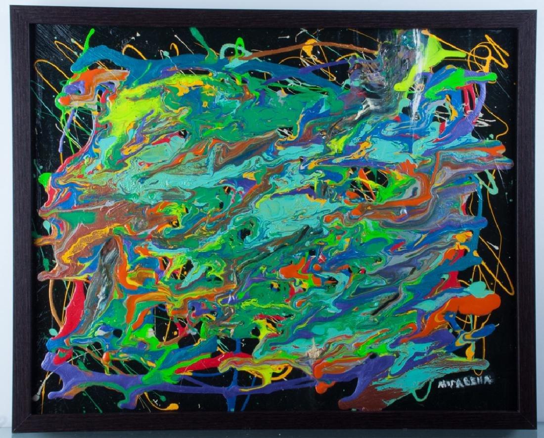 "Dominick Mirabella ""Celebration"" Acrylic On Canvas - 2"