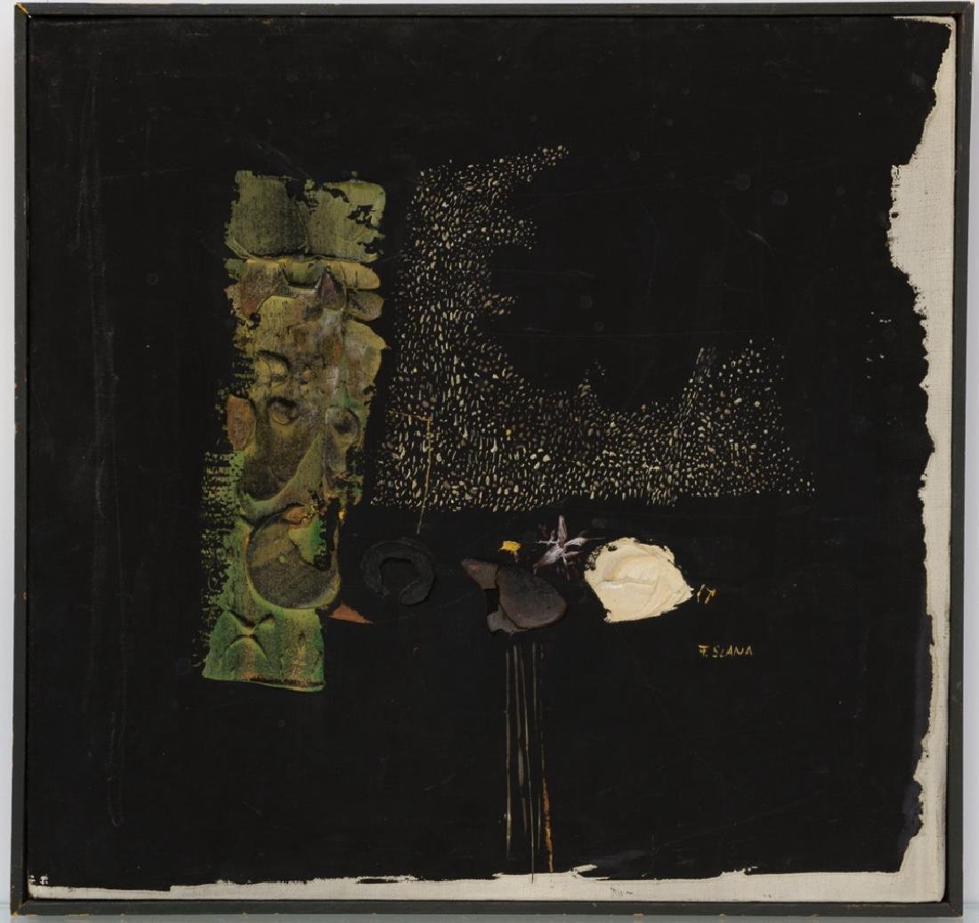 """France Slana """"Bouquet Noir"""" 1965 Painting"""