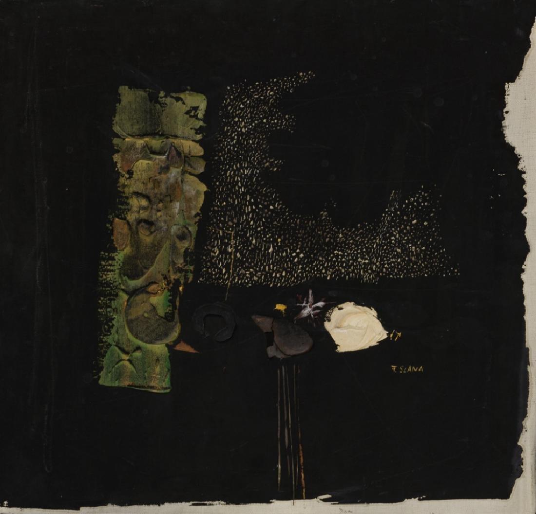 """France Slana """"Bouquet Noir"""" 1965 Painting - 2"""