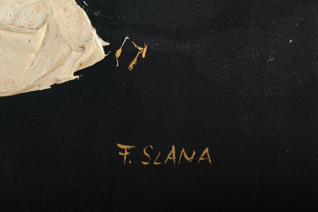 """France Slana """"Bouquet Noir"""" 1965 Painting - 3"""