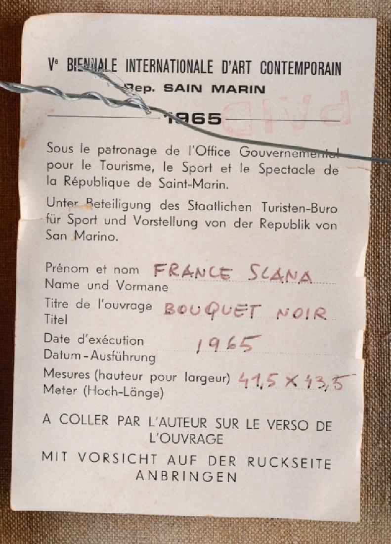 """France Slana """"Bouquet Noir"""" 1965 Painting - 5"""