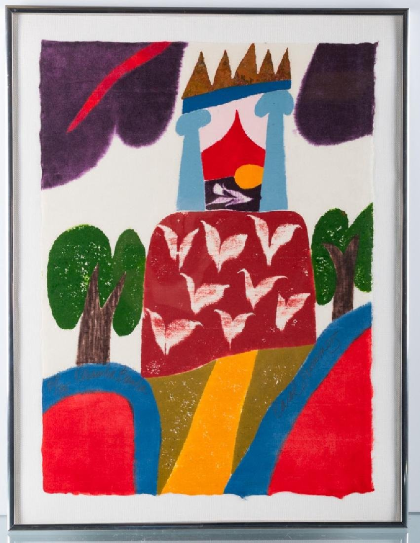 """Carol Summers """"Chamba-Bamba"""" Woodcut 51/75 2004 - 2"""