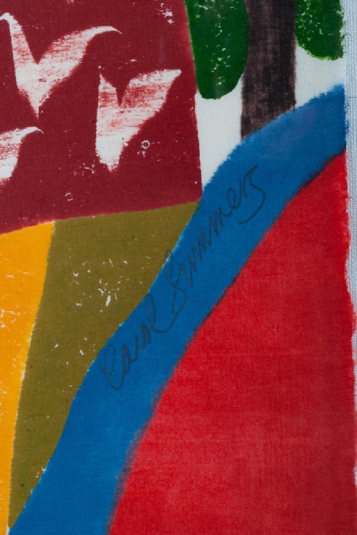 """Carol Summers """"Chamba-Bamba"""" Woodcut 51/75 2004 - 3"""