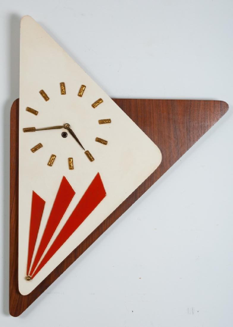 Empire Art Atomic Era Boomerang Wall Clock