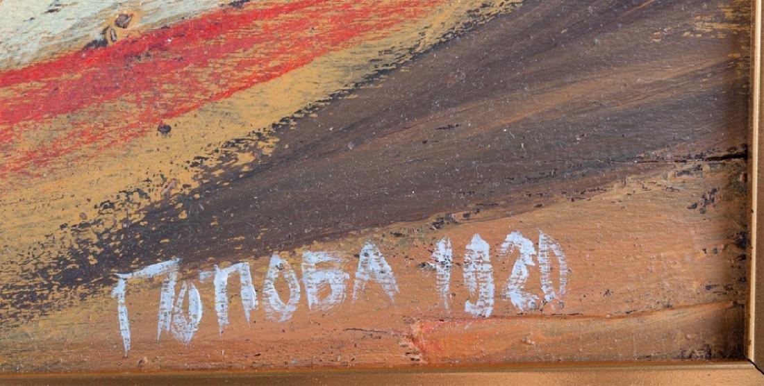 Liubov Popova Geometric Abstract Oil On Panel - 3