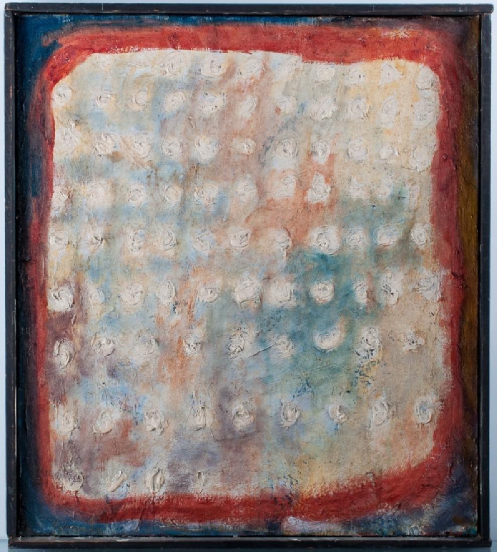 Sidney Dickman Impasto Abstract Oil On Canvas - 2