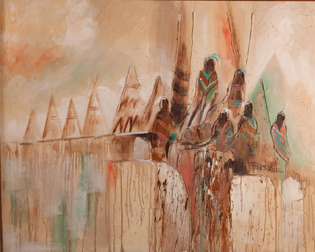 Artmaster Studios Native American Oil on Canvas