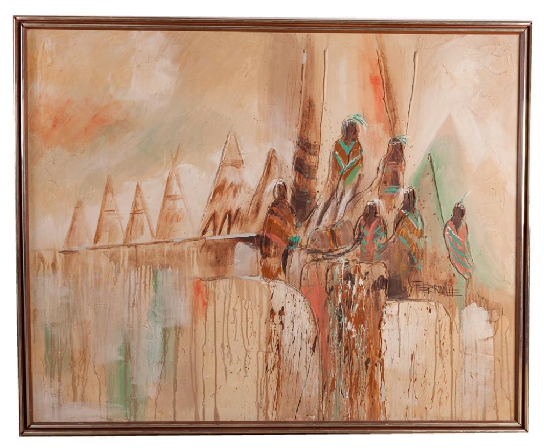 Artmaster Studios Native American Oil on Canvas - 2