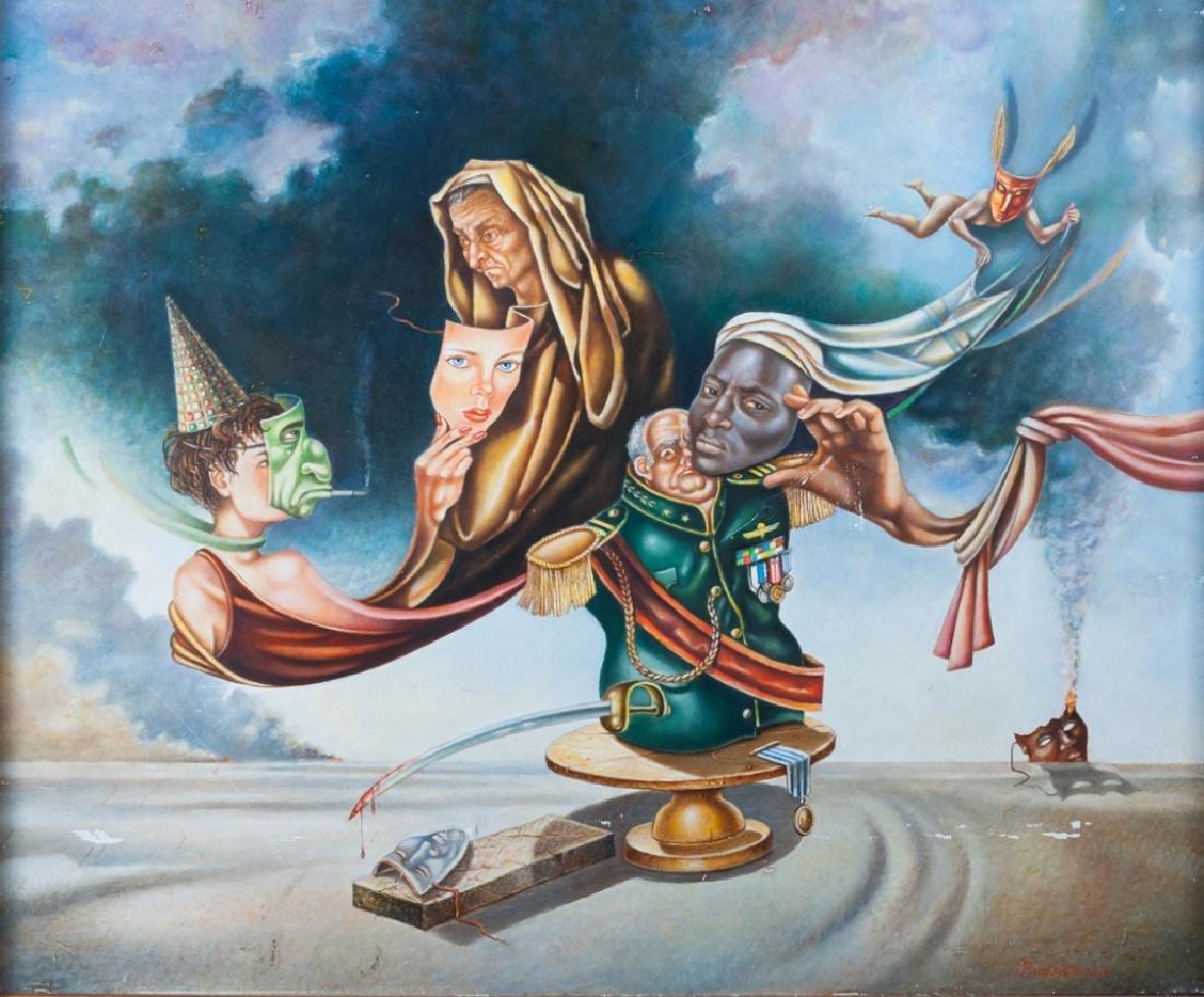Israel Rubinstein Oil on Masonite Painting - 2