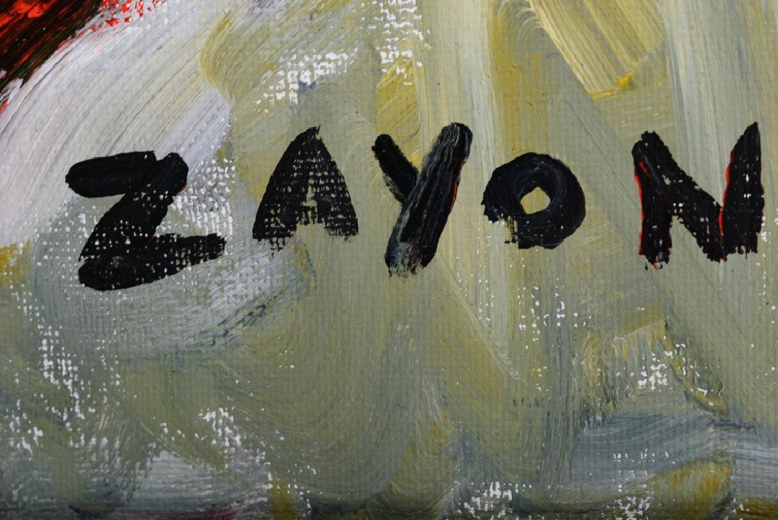 Seymour Zayon Abstract Portrait Acrylic on Canvas - 3