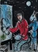 Chagall Signed La Ruche et Montparnasse Litho