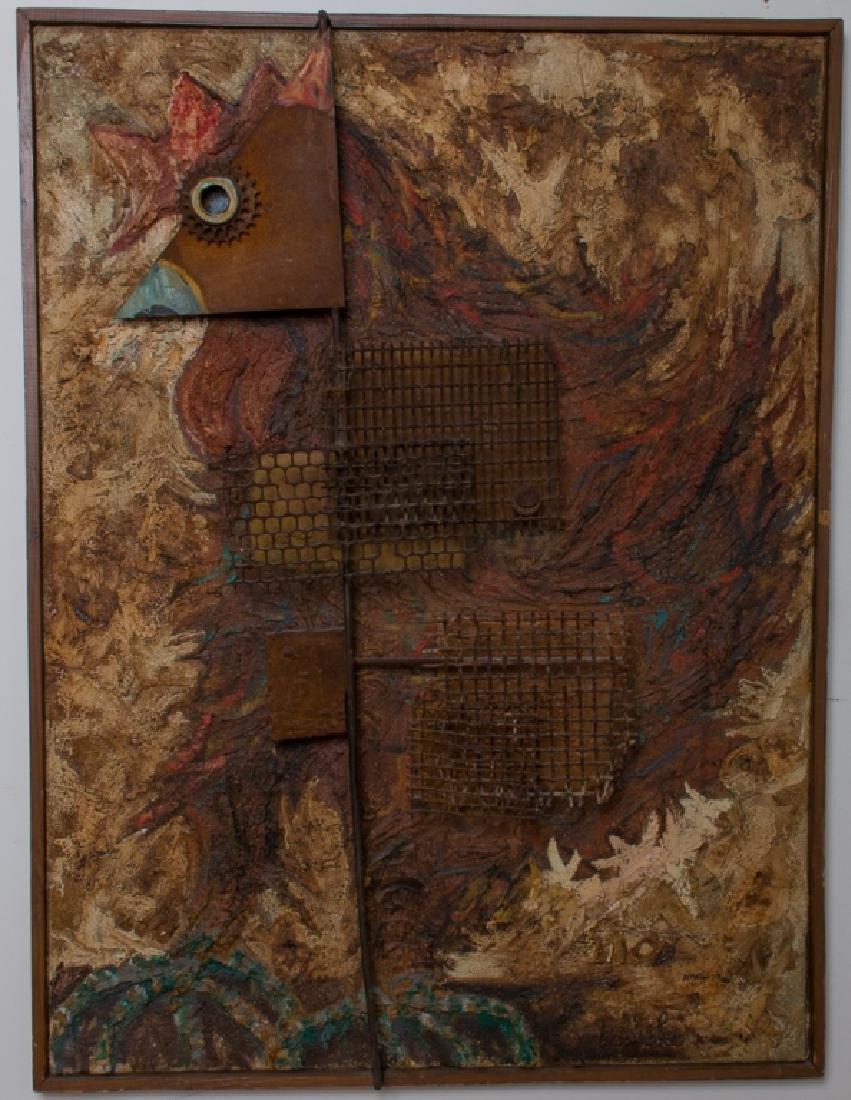 Amalio Garcia del Moral Rooster Wall Sculpture