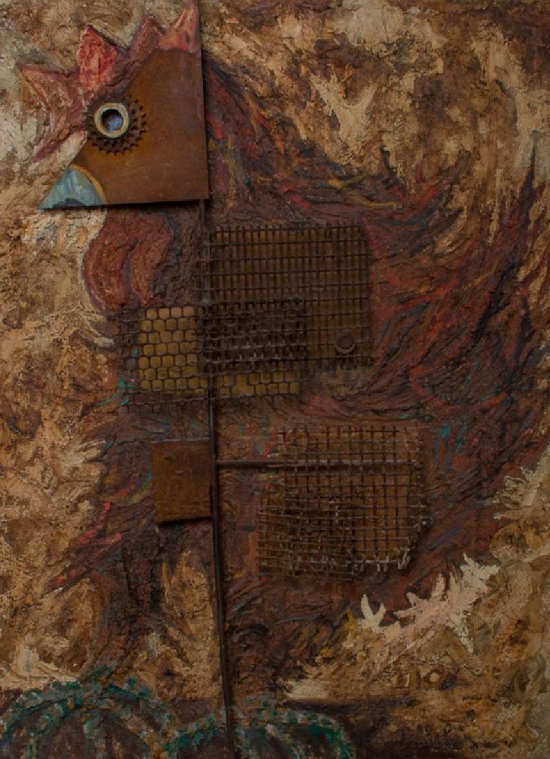 Amalio Garcia del Moral Rooster Wall Sculpture - 2