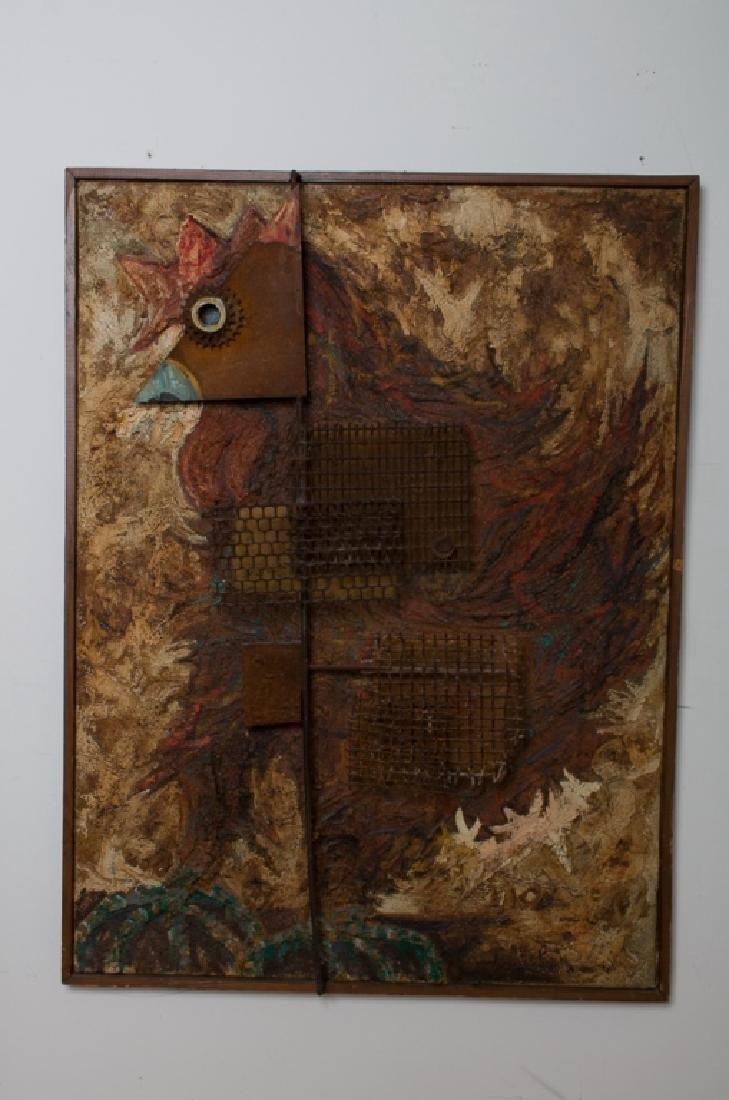 Amalio Garcia del Moral Rooster Wall Sculpture - 3
