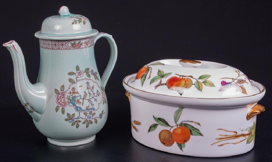 Adams Calyx Ware Coffee Pot & Royal Worcester